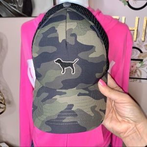 💗VS PINK Camouflage Trucker Hat!